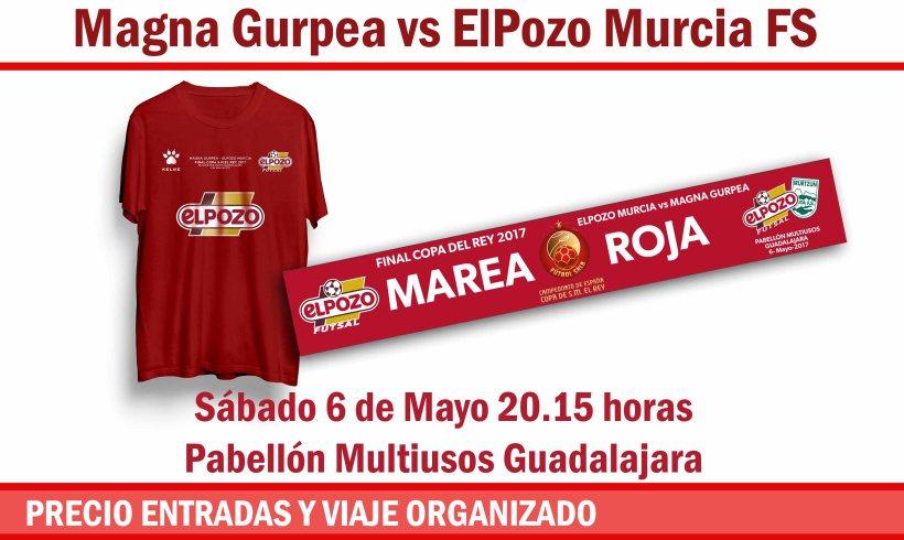 HORARIOS| Venta entradas Final VII Copa del Rey: Magna Gurpea vs ElPozo Murcia