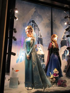 Queen Elsa on the Champs-Elysees. It was so cold, I'm sure she felt right at home.