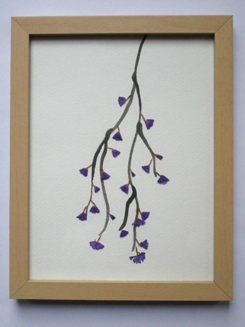 Botanical art - Statice
