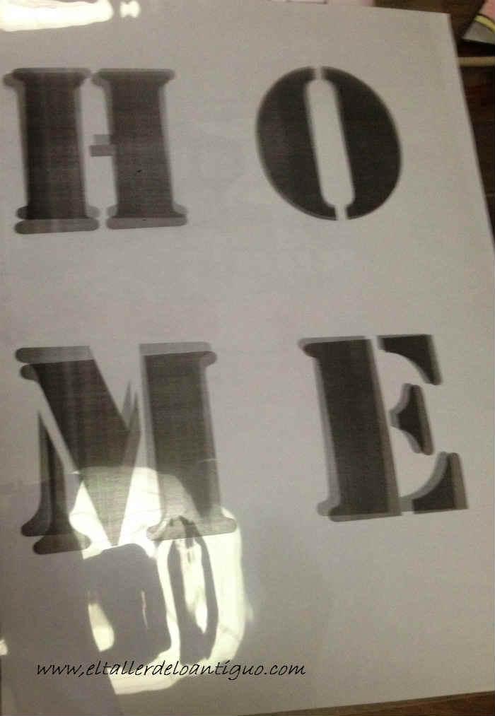 Como hacer plantillas de letras el taller de lo antiguo - Plantillas de letras para pintar en madera ...