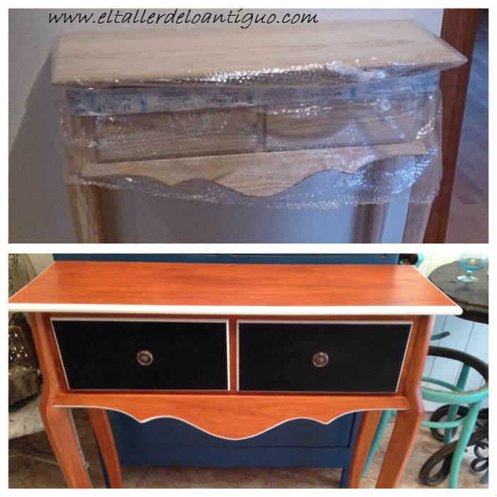 Creativo de oscuros mueble cocina for Pintar muebles de ikea