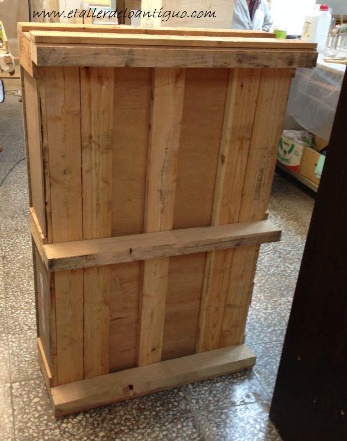 Alacena con palets el taller de lo antiguo for Puertas de palets