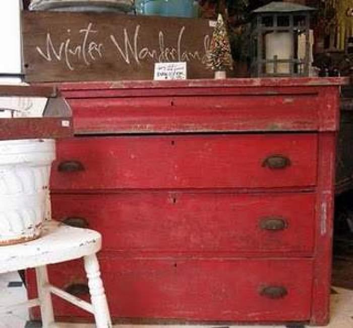 Pintar muebles de rojo toscana el taller de lo antiguo for Muebles la toskana