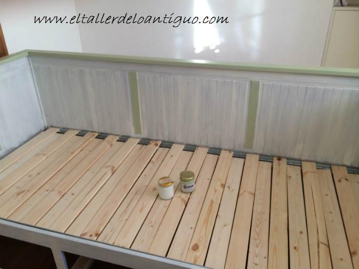 How to paint a bench foto gandia blasco home como - Como pintar muebles antiguos ...