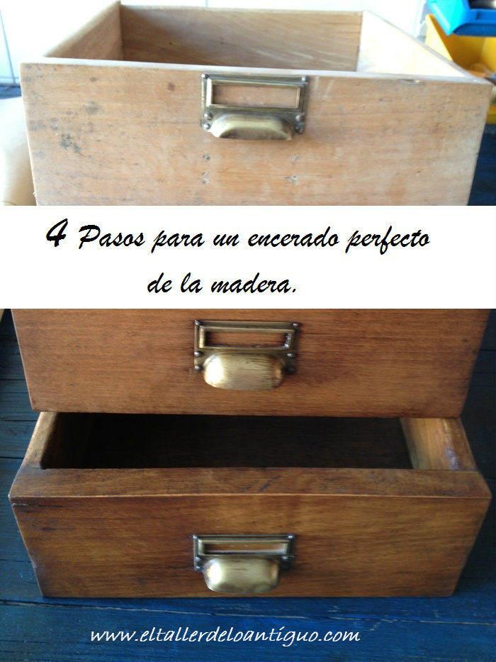 4 pasos para un encerado perfecto de la madera el - Muebles madera natural sin tratar ...