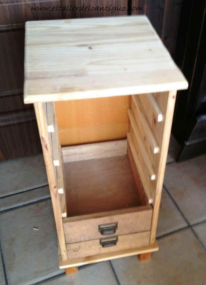 Cajones antiguos para un mueble el taller de lo antiguo for Muebles con cajones de madera
