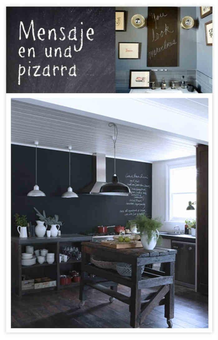 Pizarras en la cocina el taller de lo antiguo - Pizarra para cocina ...