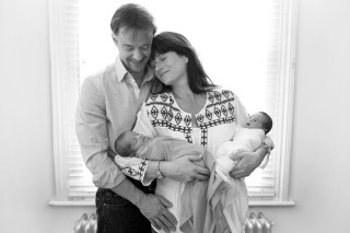 newborn twin photoshoot london family cuddles calm