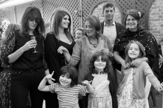 london birthday party photography 70th celebration family portrait