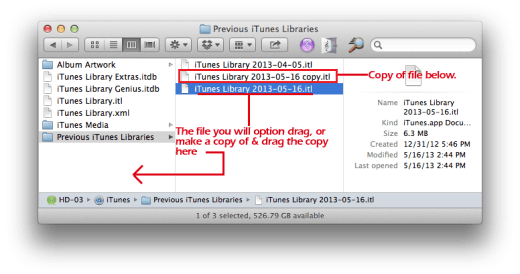 iTunes Folder Copy File