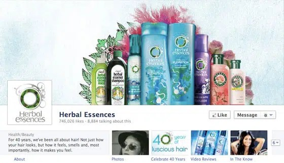 page-facebook-timeline-journal-herbal-essences
