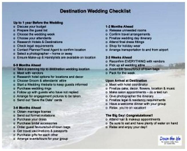 Plan destination wedding checklist yoktravels wedding checklist timeline jose mulinohouse co junglespirit Images