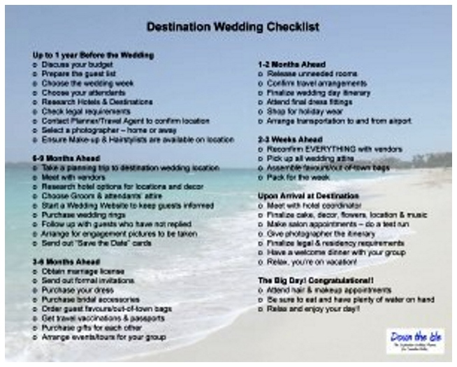 Plan Destination Wedding Checklist | Yoktravels.com