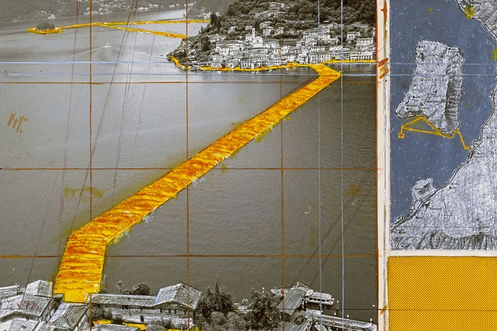 Christo fará italianos e turistas andarem sobre as águas