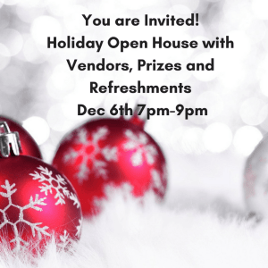 Holiday Open House at Embrace Dental Hygiene-Dec 6th from 7pm-9pm