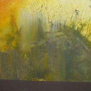 """Earth, Ed McCartan, acrylic on canvas, 48x48""""  $1500"""