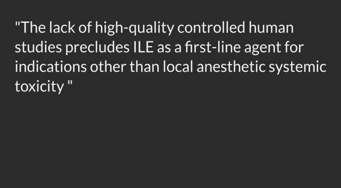 Lipid Emulsion Therapy