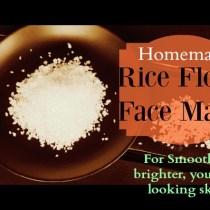rice flour facial mask