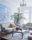 Candace Bushnell's Manhattan living room