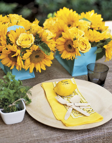 Lemon Plaice Cards ENTER0706 de Alfresco Glam: Outdoor Table Decoration Ideas