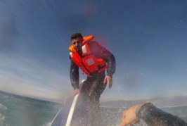Migrant rescued from submerged boat by Turkish coast guard