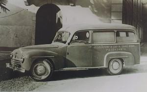La Fiat 1100BLR del 1949, opera della Carr. Schieppati di Milano - foto ASCVP