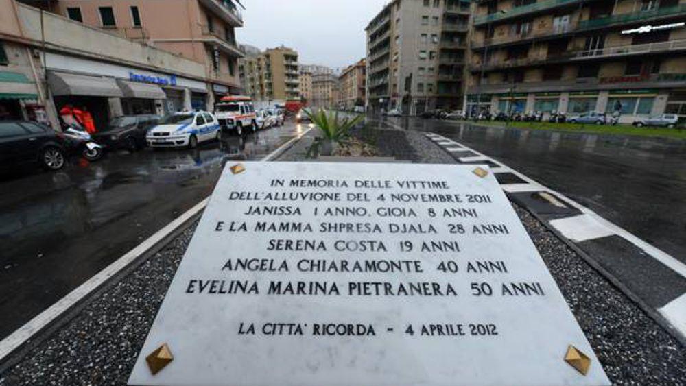 targa vittime alluvione 2011-2
