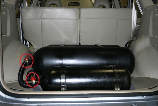 Una bombola di GPL per auto