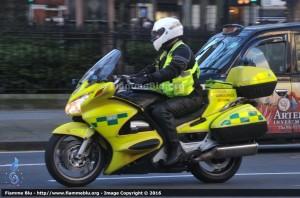 Motomedica dell'NHS in servizio a Londra - Foto Marco Sennaroli, Fiammeblu