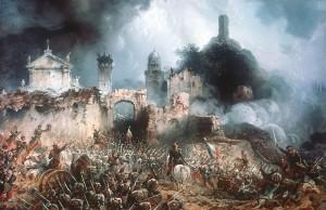 Carlo Bossoli, la battaglia di Solferino (wikimedia)