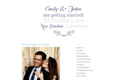 How to Make a Wedding Website Using Blogger - Em for ...