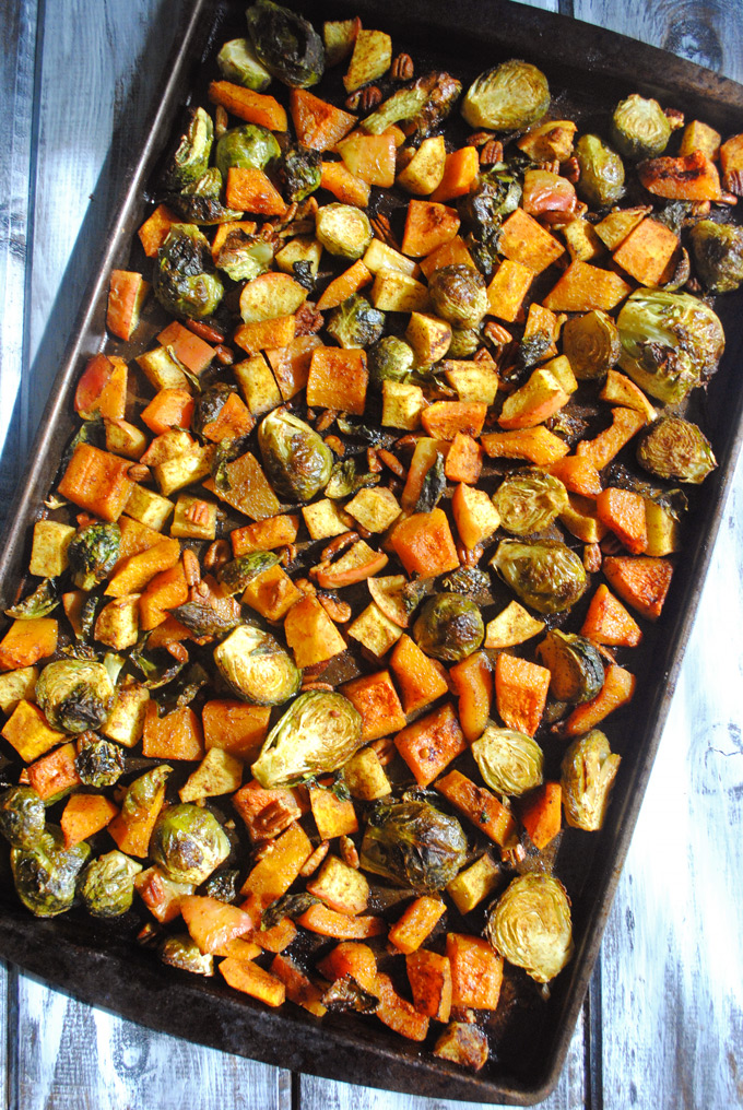 Maple Curry Roasted Brussels Sprouts, Butternut Squash and ...