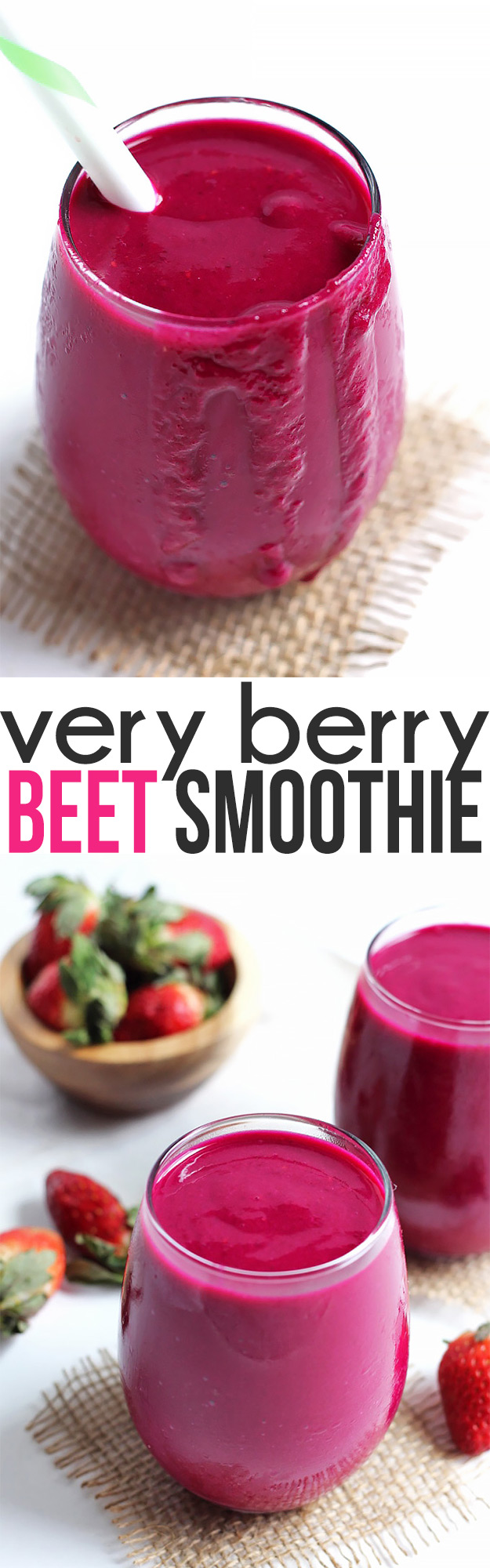 If you find it hard to get your veggies in, you need this Very Berry Beet Smoothie! It's perfect for a super nutritious breakfast or snack.