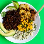 Black Bean Cilantro Lime Rice Bowls with Plantains