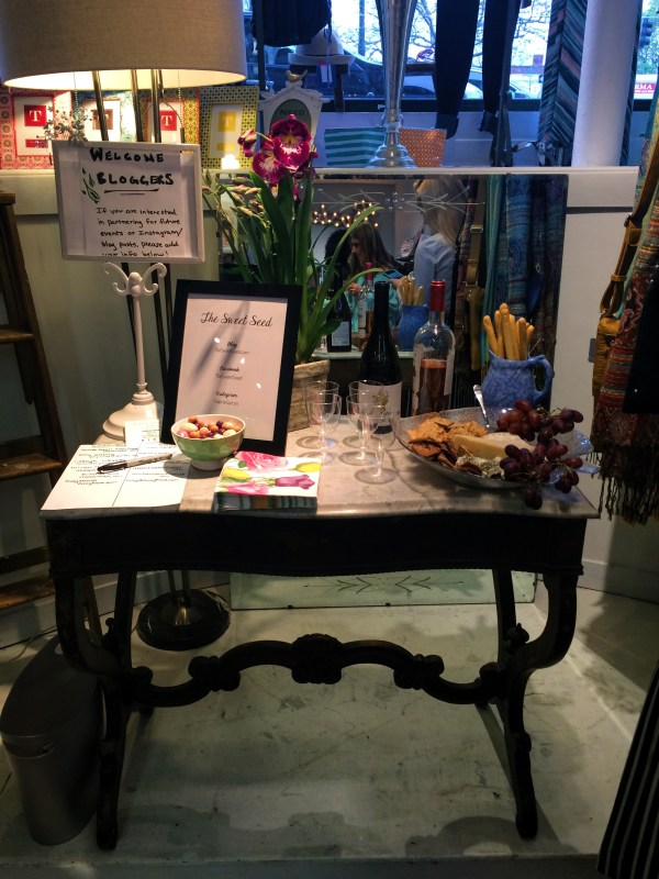 The cutest sign in table! With snacks and wine, of course!