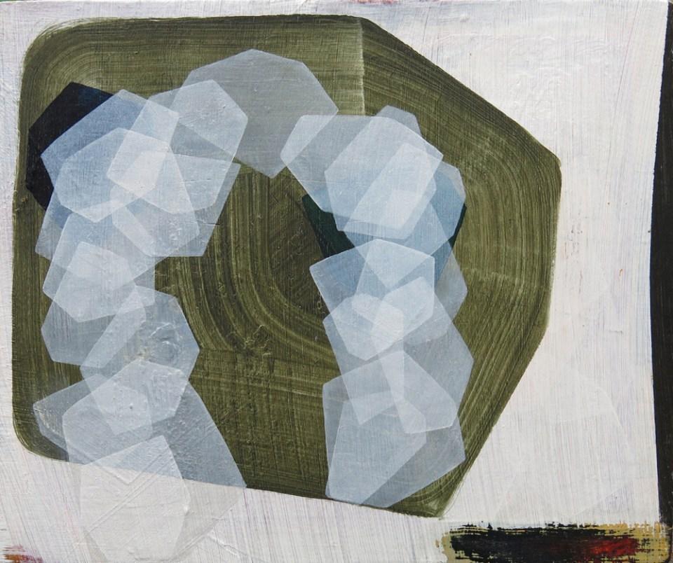 DAN ROACH Bridgegate, 2012, oil and wax on panel, 12.5 x 19cm