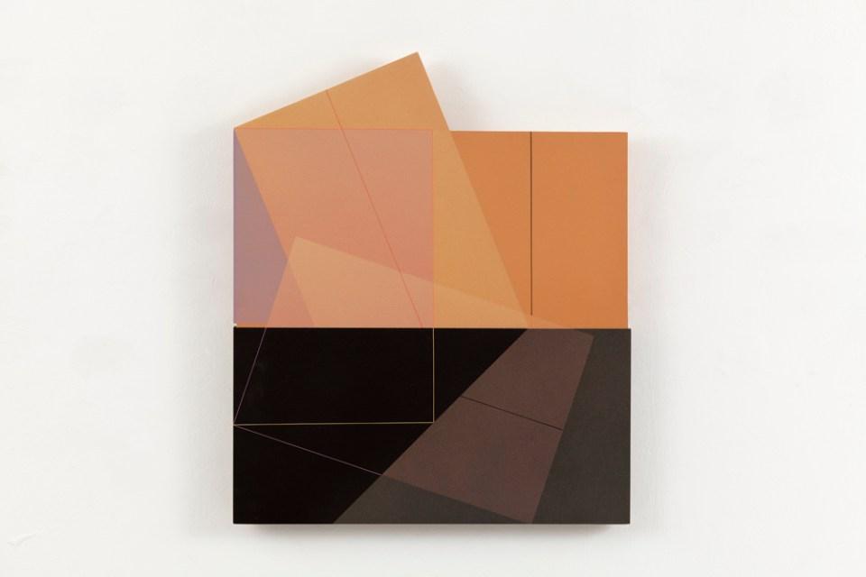 JULIA FARRER 40x40 II, 2005, acrylic on birch plywood, 42 x 40cm