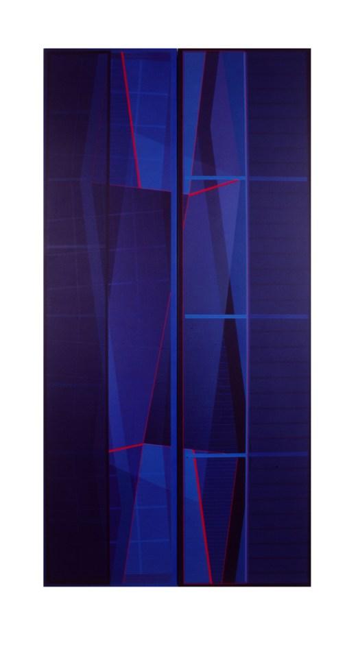 JULIA FARRER Night Sentinel, 1998, acrylic on canvas