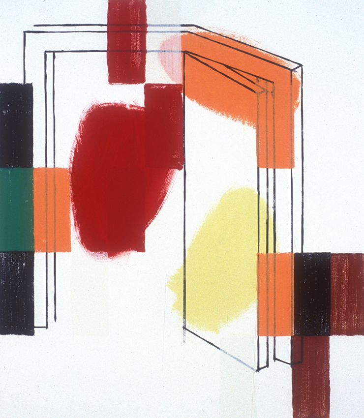 PETER RASMUSSEN Door 2, 2008, oil on paper, 75 x 60cm