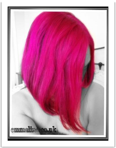 Pink and black hair flashes #directions vegetable dye