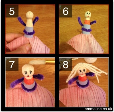 how to make a peg doll tutorial steps