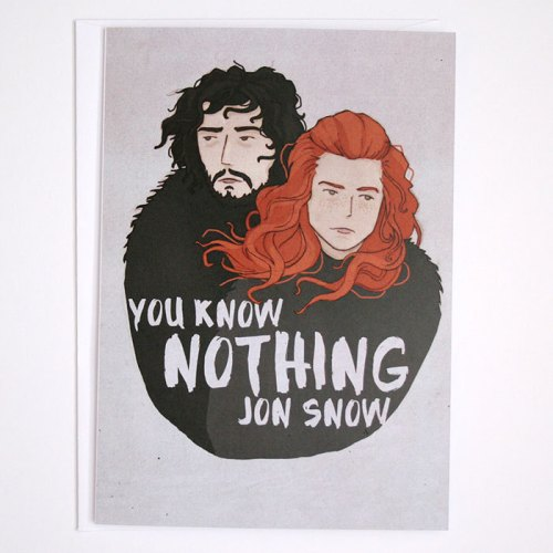 Jon Snow birthday card