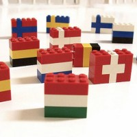 Winter Olympic Lego Flags