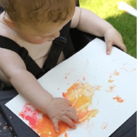 My First Painting! Make your own Baby paint