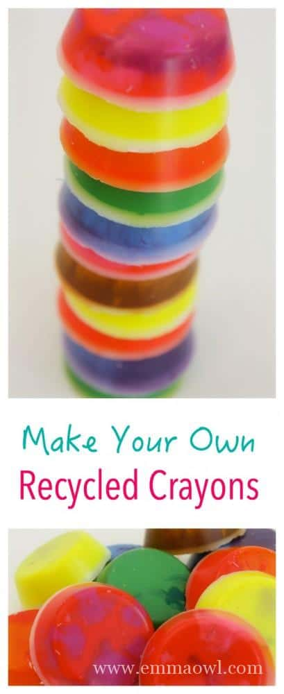 Easy Recycled Crayon Craft Project. They make the perfect gifts!