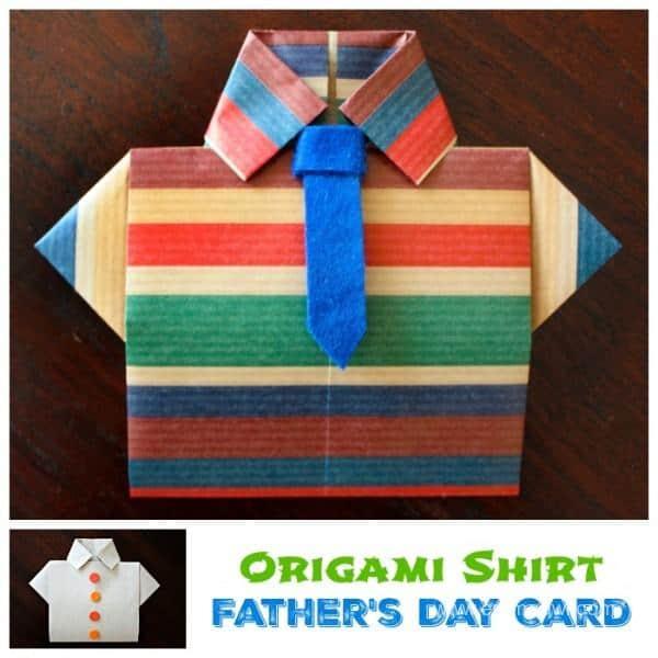 Fathers Day Shirt Origami Card Pelitabangsa