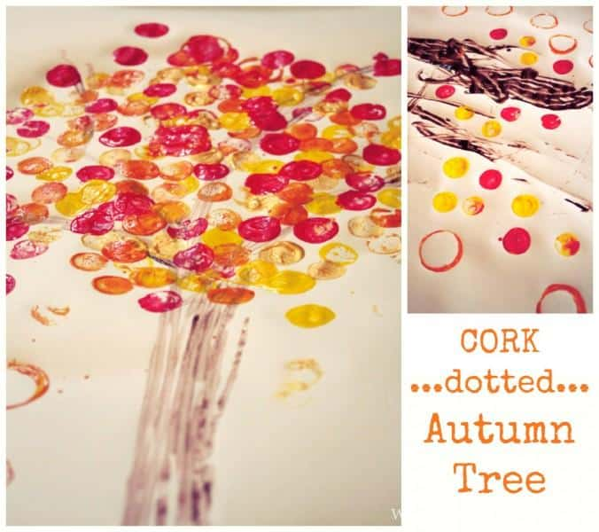 Cork Dotted Autumn Tree