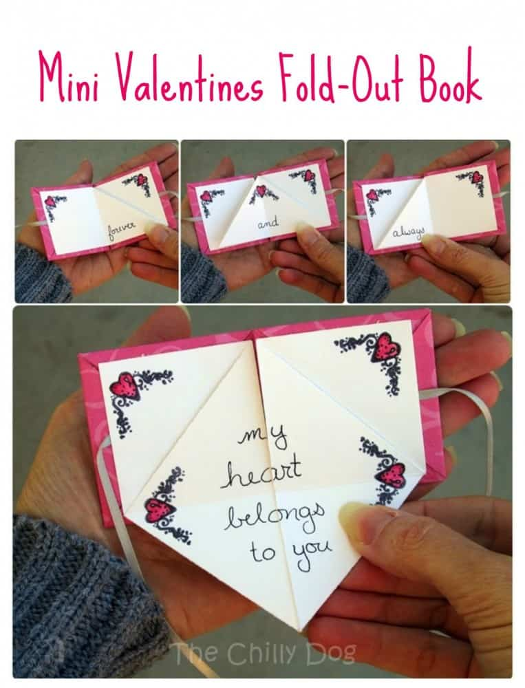Mini Valentines Fold Out Book