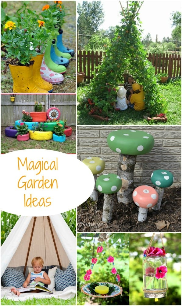 magical garden inspiration great diy garden ideas emma owl. Black Bedroom Furniture Sets. Home Design Ideas