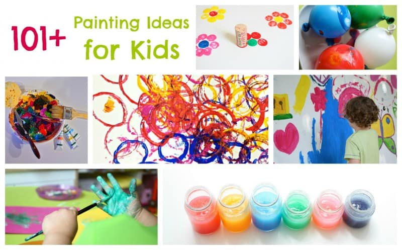 101 painting ideas for children if there is paint involved it is here - Children Painting Images